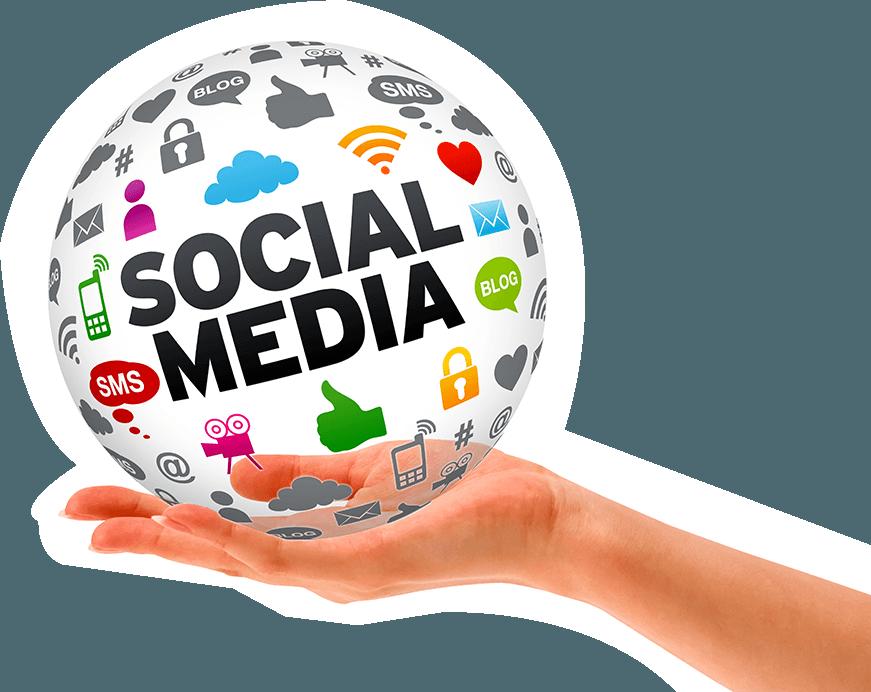 Social Media 3d Sphere